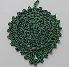 Úžitkový textil - Prestieranie/Podšálky - lístky (Prestieranie/Podšálky - lístky - eukalyptus zelená) - 11128961_