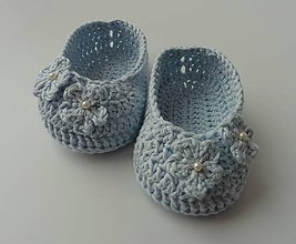 Topánočky - Detské papučky/topánočky (Detské papučky/topánočky - bledo modrá) - 11129129_