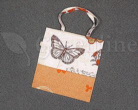 Nákupné tašky - Nákupná taška / Zabalené do ekológie / Motýľ - 11127780_