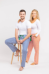 Pyžamy a župany - Laggar pánske pyžamové nohavice - 11127394_