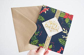"""Papiernictvo - Vianočná pohľadnica """" Merry Christmas"""" - 11128049_"""