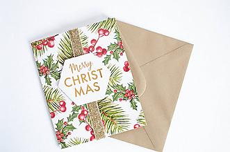 """Papiernictvo - Vianočná pohľadnica """" Merry Christmas II."""" - 11128113_"""