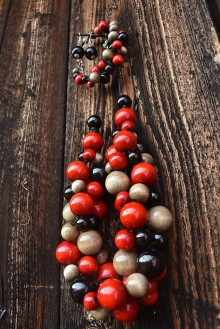 Sady šperkov - Black-red-gray sada 3v1 - 11126828_