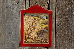 Obrázky - Keramický obrázok Jarná krajina - 11127614_