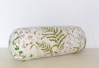Úžitkový textil - Vankúš - valec č.3  (Rozkvitnutá lúka) - 11128921_