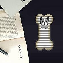 Papiernictvo - Psie záložky do knihy - pásiky - 11127106_