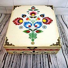 Krabičky - Drevená krabica ornamentová   (2x ornament) - 11131582_