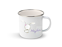 Nádoby - Smaltovaný hrnček s menom (Zajačik) - 11132751_