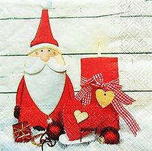 Papier - S859 - Servítky - santa claus, dedo mráz, sviečka, vianoce - 11131326_