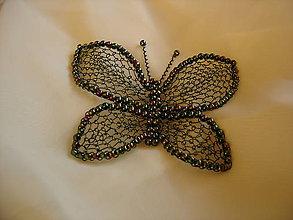Odznaky/Brošne - Motýlik - 11132557_
