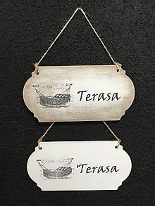 "Dekorácie - Tabuľka "" Terasa "" - 11132438_"