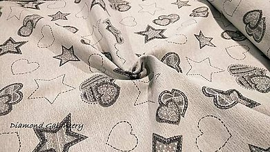 Textil - Látka pretkávaná lurexovou niťou (Strieborná) - 11132326_