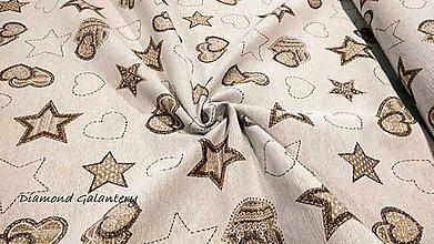 Textil - Látka pretkávaná lurexovou niťou (Zlatá) - 11132330_