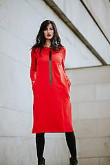 Šaty - FNDLK úpletové šaty 424 RVL midi s rozparkami - 11130353_