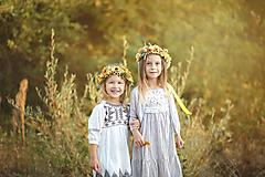 """Ozdoby do vlasov - Kvetinový venček """"Slniečko"""" verzia pre dospelých - 11133415_"""