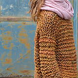 Svetre/Pulóvre - pletený sveter FREE okrový melír - 11132814_