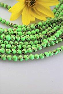 Minerály - tyrkenit 6mm korálky - zelený tyrkenit - 11131962_