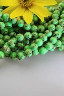 Minerály - tyrkenit 10mm korálky - zelený tyrkenit - 11131980_