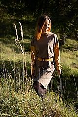 Šaty - ZĽAVA Úpletové šaty jesenné retro - 11130255_