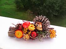 """Dekorácie - Jesenná dekorácia """"...ježkova špajza ..."""" - 11133519_"""