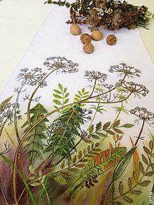 """Úžitkový textil - Maľované prestieranie (štóla) """"jesenná lúka"""" - 11131682_"""
