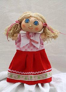 Hračky - Maňuška. Bábika dievčatko Ivonka - 11131229_