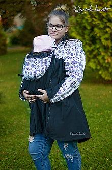 Kabáty - Softshellová bunda na nosenie detí - 11132163_