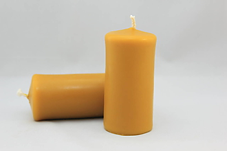 Svietidlá a sviečky - Sviečka zo včelieho vosku - hruba - 11132239_