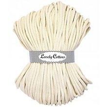 Galantéria - Chunky špagát Lovely Cottons 9mm (100m) (Prírodná) - 11131306_
