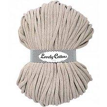 Galantéria - Chunky špagát Lovely Cottons 9mm (100m) (Kapučíno) - 11131307_