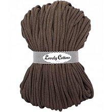 Galantéria - Chunky špagát Lovely Cottons 9mm (100m) (Mokka) - 11131309_