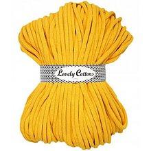 Galantéria - Chunky špagát Lovely Cottons 9mm (100m) (Žltá) - 11131310_