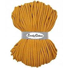 Galantéria - Chunky špagát Lovely Cottons 9mm (100m) (Horčicová) - 11131311_
