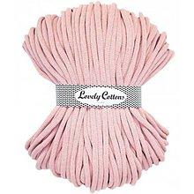 Galantéria - Chunky špagát Lovely Cottons 9mm (100m) (Svetlá ružová) - 11131312_