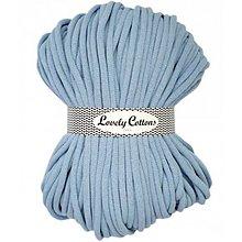 Galantéria - Chunky špagát Lovely Cottons 9mm (100m) (Svetlá modrá) - 11131319_