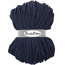 Galantéria - Chunky špagát Lovely Cottons 9mm (100m) (Tmavá džínsová) - 11131320_