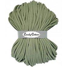 Galantéria - Chunky špagát Lovely Cottons 9mm (100m) (Svetlá olivová) - 11131321_
