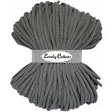 Galantéria - Chunky špagát Lovely Cottons 9mm (100m) (Šedá) - 11131322_
