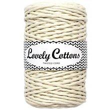 Galantéria - Macrame špagát 3mm (100m) Lovely Cottons - 11131348_