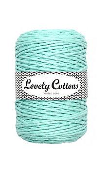 Galantéria - Macrame špagát 3mm (200m) Lovely Cottons - posledné kusy! (Mätová) - 11132026_