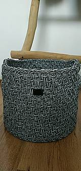 Košíky - Ručne hačkovaný košík - 11130375_