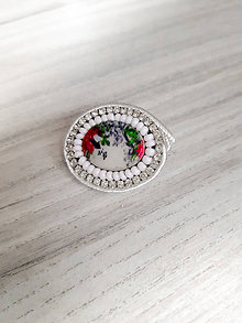 Odznaky/Brošne - Brošňa so štrasom a perleťou - 11132020_