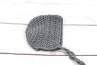 Detské čiapky - Šedý zimný čepiec EXTRA FINE - 11131114_