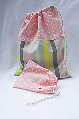 Detské tašky - Vrecúška v ružovej - 11132399_