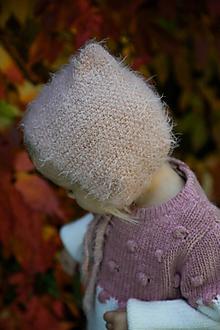 Detské čiapky - Jemný ružový čepček - 11132588_