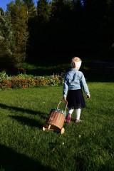 Košíky - Prútený kôš na kolieskach pre deti - 11132815_