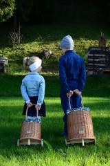 Košíky - Prútený kôš na kolieskach pre deti - 11132817_