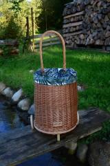 Košíky - Prútený kôš na kolieskach pre deti - 11132835_