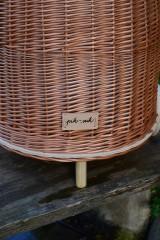Košíky - Prútený kôš na kolieskach pre deti - 11132837_