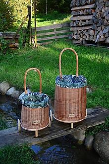 Košíky - Prútený kôš na kolieskach pre deti  - 11132820_